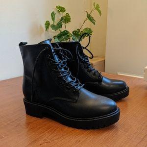 NWOT black combat boots